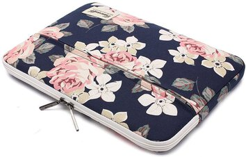 TORBA ETUI CANVASLIFE SLEEVE LAPTOP 13-14  NAVY ROSE